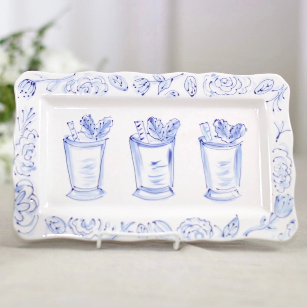 Mint Julep Kentucky Derby Rectangular Platter