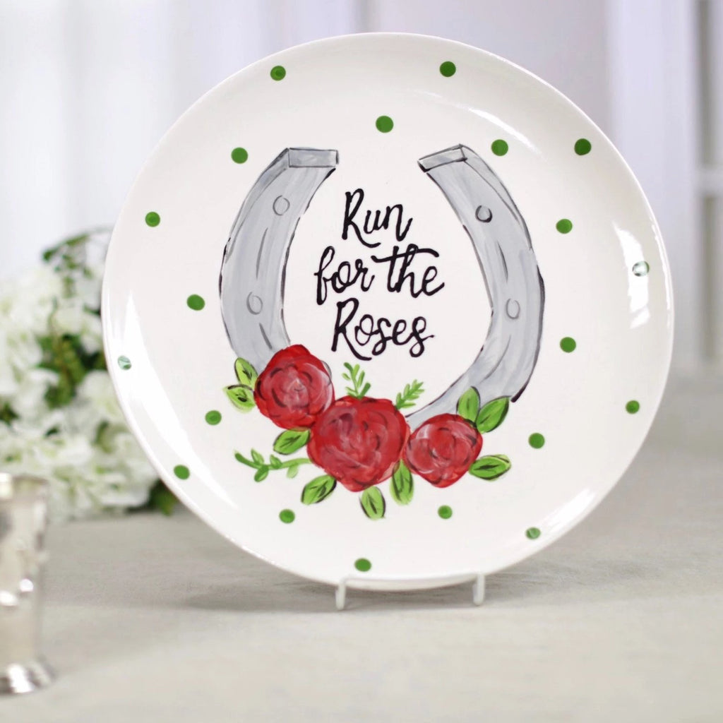 Run for the roses derby horseshoe plate.