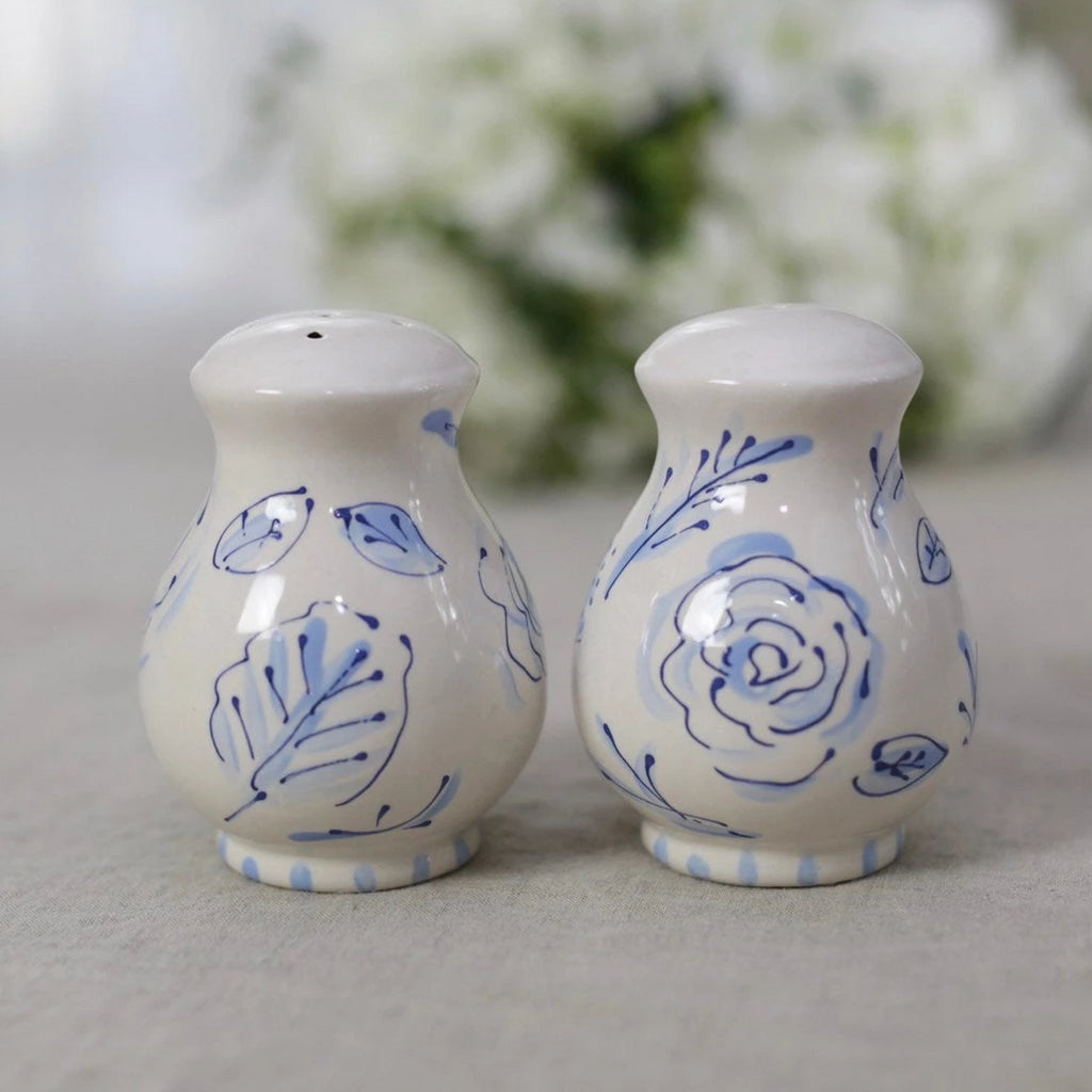 Bleu and White Chinoiserie Salt and Pepper Shakers
