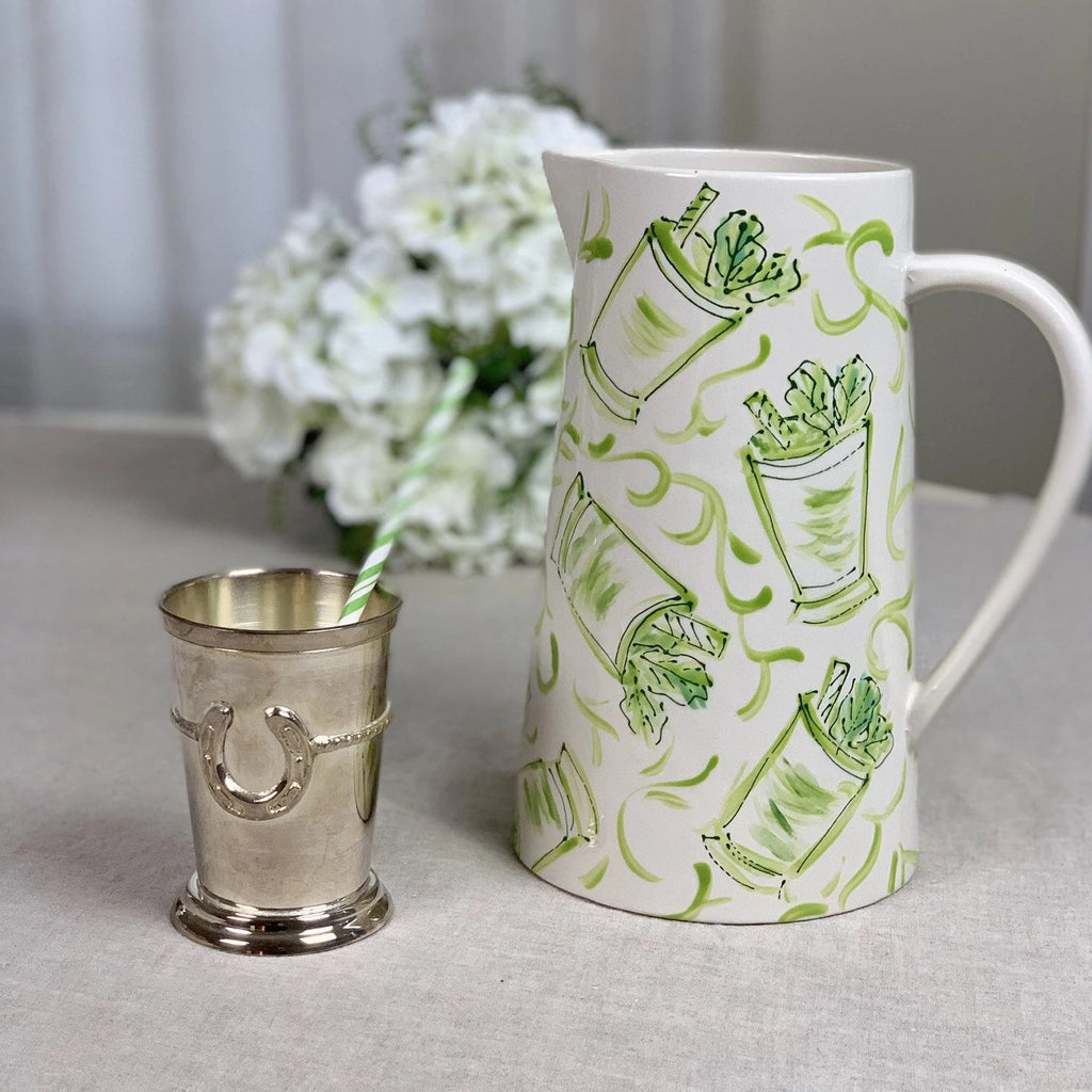 Mint Julep Chinoiserie Pitcher