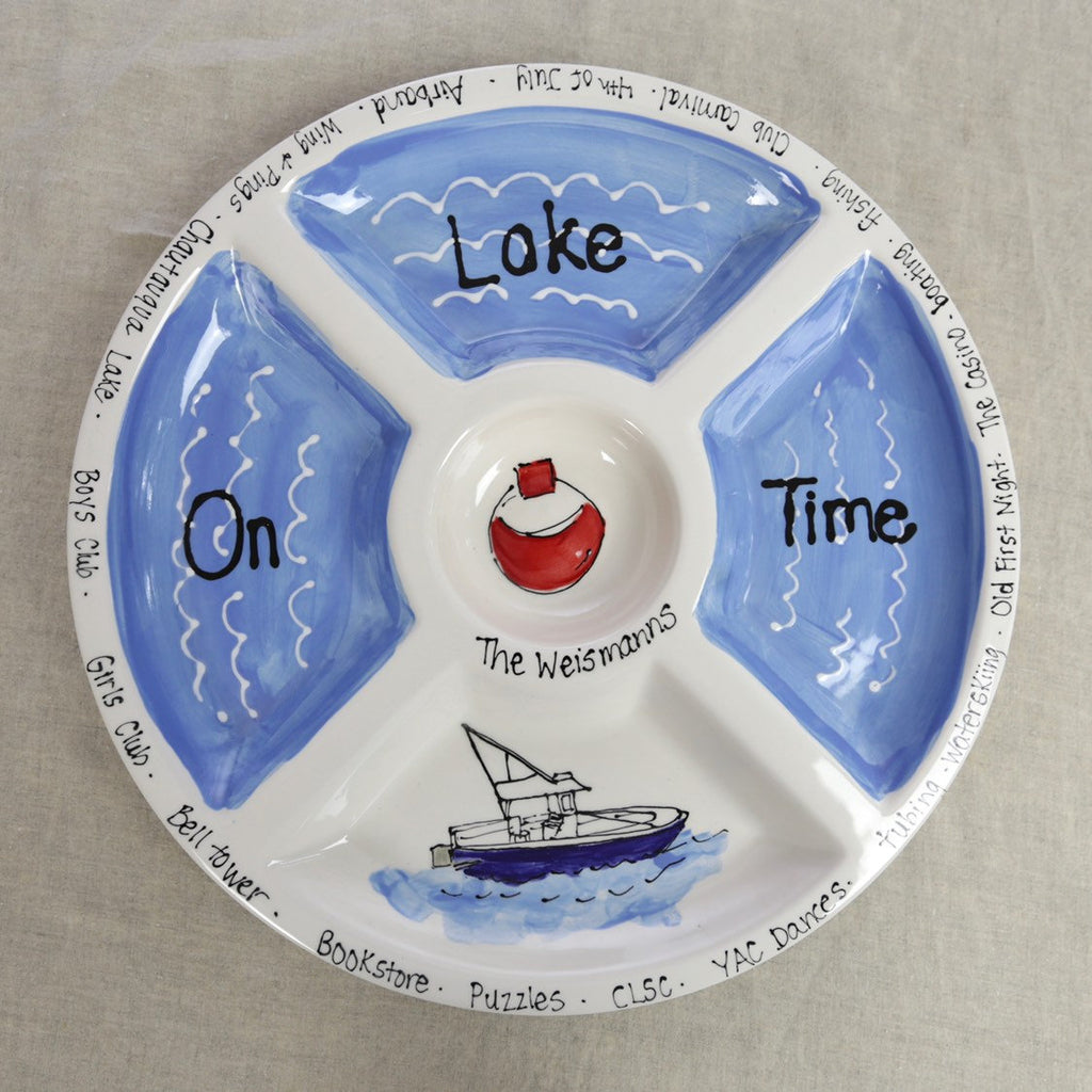 Lake Theme Chip and Dip Platter
