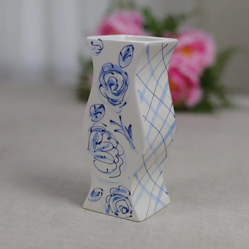 Bespoke Blue and White Chinoiserie Vase