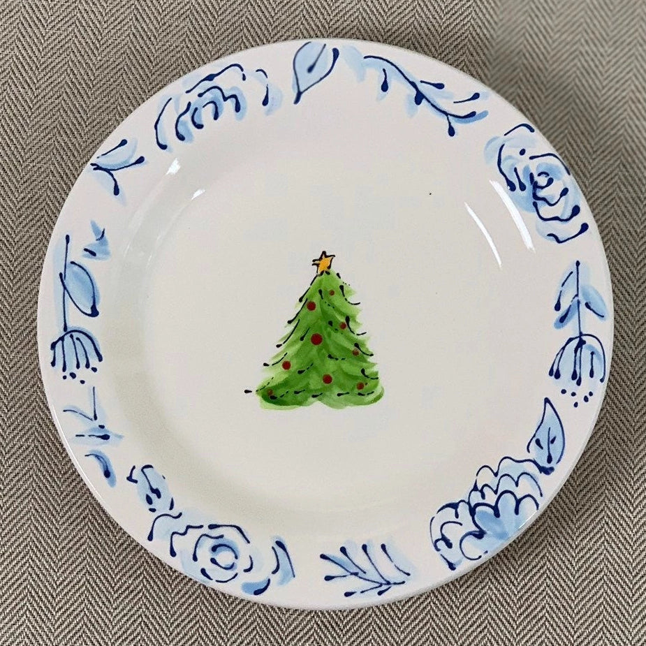 Chinoiserie Christmas Tree Plate