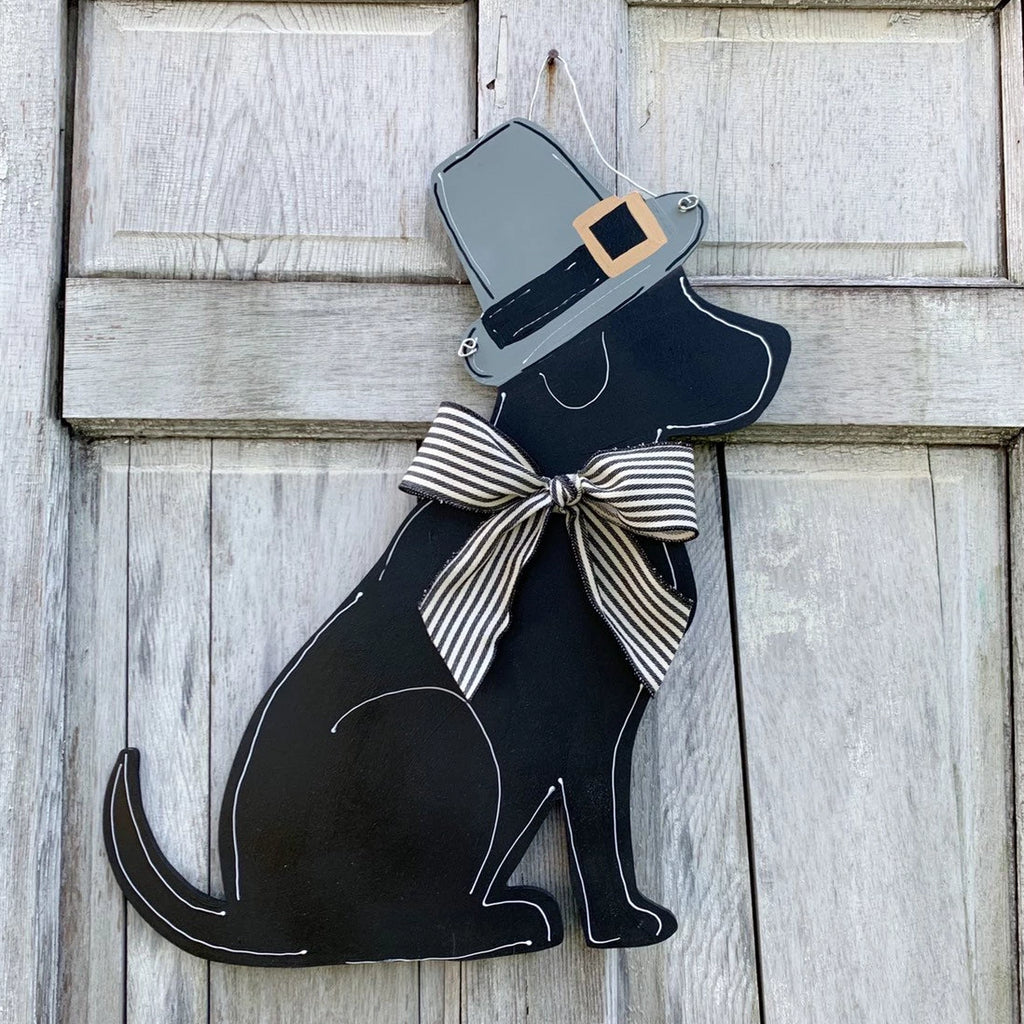 Thanksgiving Labrador Door Hanger