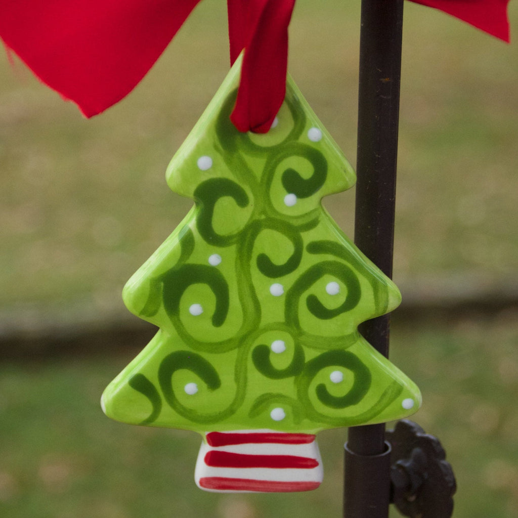 Personalized Green Christmas Tree Ornament