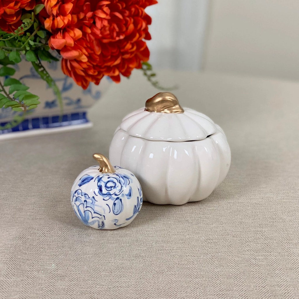 Small Ceramic Pumpkin Jar