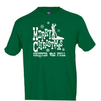 merry christmas shitter was full t shirt national lampoons christmas vacation crew neck tee