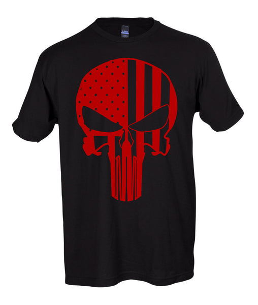 The Punisher American Flag short sleeve shirt
