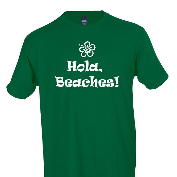 8dcabd8d ... Hola Beaches T-Shirt Women's Funny Vacation Beach Crew Neck ...