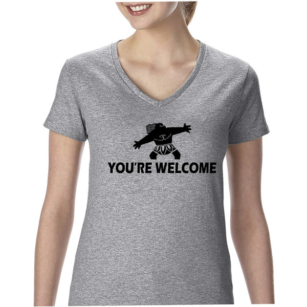 You're Welcome Women's V-Neck Tee