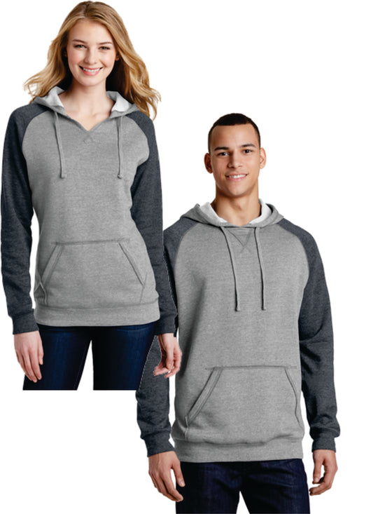 (NE8) Lightweight Fleece Raglan Hoodie-Available in LADIES & ADULT Sizes (DT196/296)