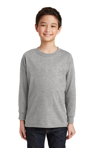 (ENYFL) YOUTH Gildan® - Heavy Cotton™ 100% Cotton L/S T-Shirt (SM 5400B)