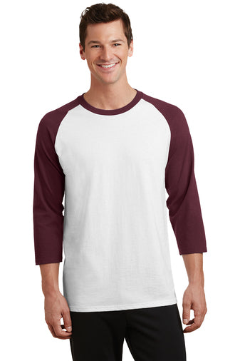 (CN) Core Blend 3/4-Sleeve Raglan Tee (Adult & Youth Sizes Available) (SM PC55RS)