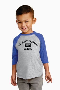 (MARY) Toddler Baseball Fine Jersey Tee (SM RS3330)