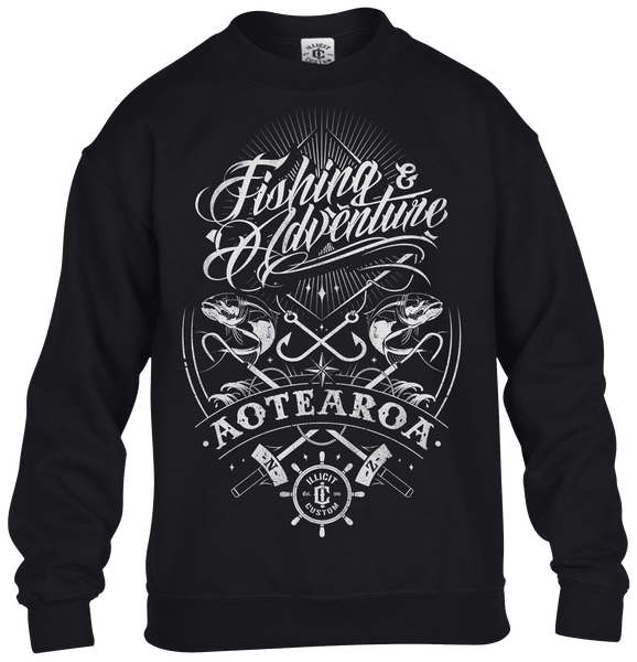 F&A TATTOO SCRIPT CREW NECK - White