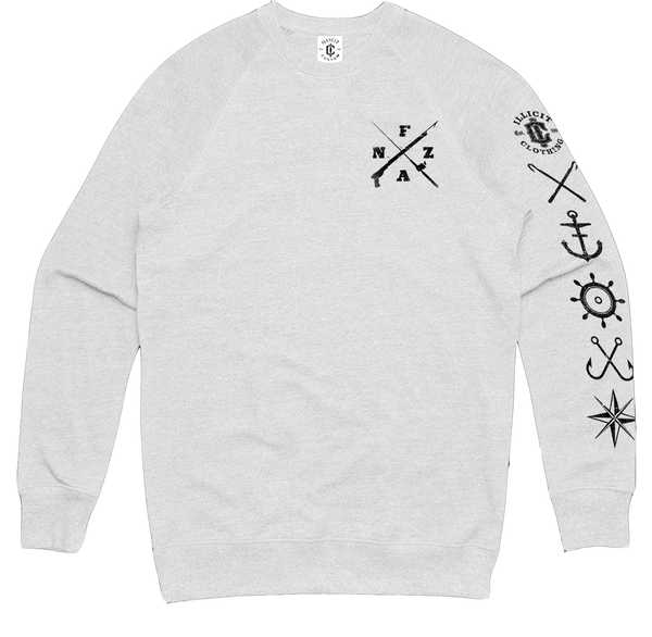FANZ LONG SLEEVE TEE - WHITE
