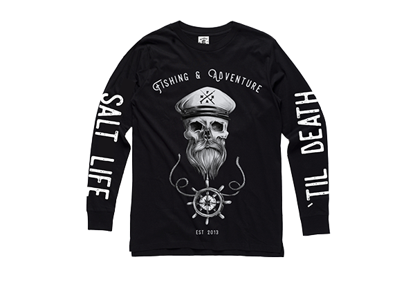 SALT LIFE 'TIL DEATH LONG SLEEVE TEE - BLACK