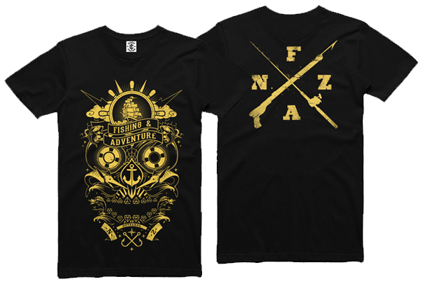 F&A KIDS FISHING SKULL TEE