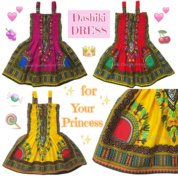 Toddler Kids African Dashiki Dress Cute Lovely