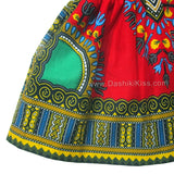 Red Toddler Kids African Dashiki Dress Shop Online