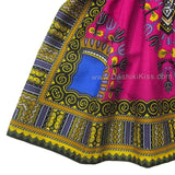 Pink Toddler Kids African Dashiki Dress Cute Lovely Print Dashiki