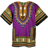 Purple Plus Size African Dashiki Shirt Tops Shop Online