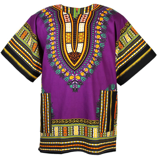 Purple Plus Size Dashiki Shirt XXXL Jumbo Big Shirt