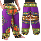 Purple African Dashiki Pants