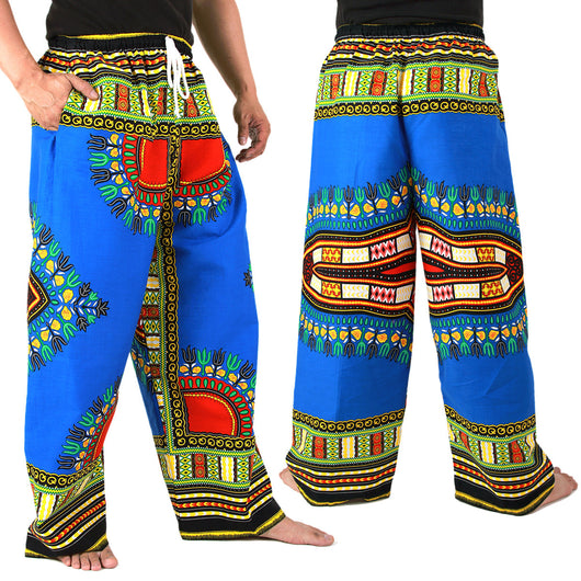 Blue African Dashiki Pants