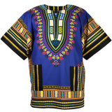 Dark Blue African Dashiki Shirt Tops
