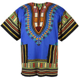 Blue African Dashiki Shirt Tops