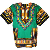 Green African Dashiki Shirt Tops