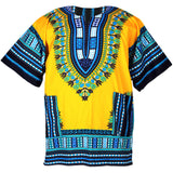 Yellow African Dashiki Shirt Tops Blouse