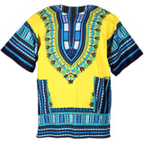 Light Yellow African Dashiki Shirt Tops
