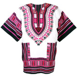 White and Pink African Dashiki Shirt Online Shop