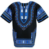 Black and Blue African Dashiki Shirt