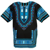 Blue and Black African Dashiki Tops