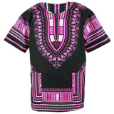 Pink and Black African Dashiki Shirt