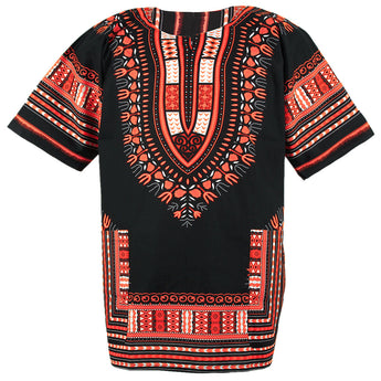 Black and Orange African Dashiki Shirt