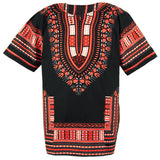 Orange and Black African Dashiki Tops Shirt