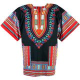 Black and Red Lady Nigerian African Dashiki Shirt