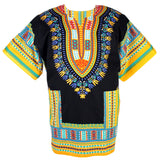 Black and Yellow Clothing African Dashiki Shirt