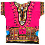Pink Toddler Kids African Dashiki Shirt