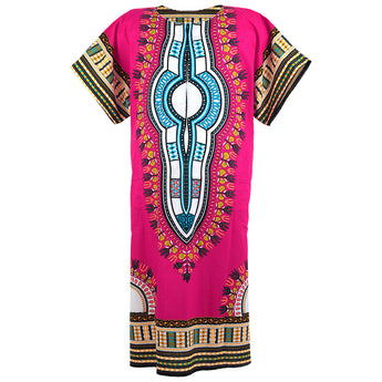 Pink African Dashiki Long Dress