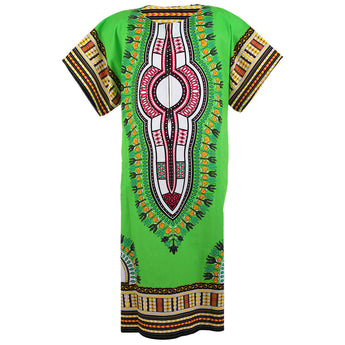 Lime African Dashiki Long Dress