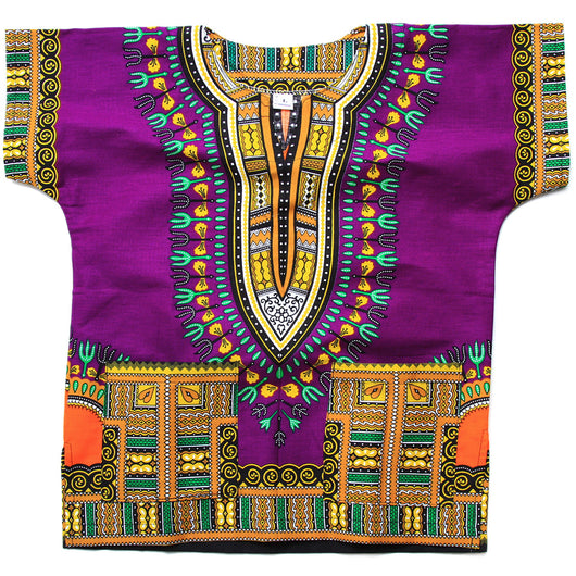 Purple Toddler Kids African Dashiki Shirt