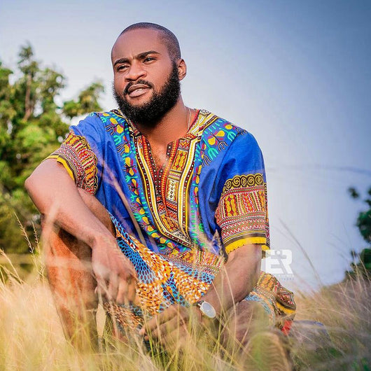 Blue Dashiki Plus Size For Men