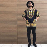 Black and Yellow African Dashiki Shirt