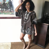 Grey African Dashiki Shirt