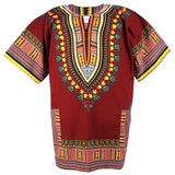 Brown Plus Size African Dashiki Shirt Tops